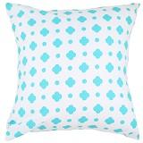 EOLINS Bantal Sofa Motif Bunga Clover [JSPS019] - Blue - Bantal Dekorasi